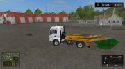 MAN skip truck with container (v1.0 Pummelboer) for Farming Simulator 2017 miniature 3