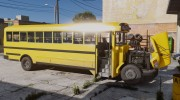 Caisson Elementary C School Bus для GTA 5 миниатюра 6