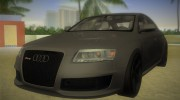 Audi RS6 W12 TT Black Revel for GTA Vice City miniature 1