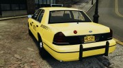 Ford Crown Victoria NYC Taxi 2004 for GTA 4 miniature 3