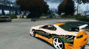 Toyota Supra Fast And Furious for GTA 4 miniature 3
