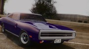 1970 Dodge Charger R/T 440 (XS29) для GTA San Andreas миниатюра 7