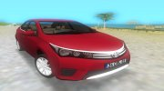 2014 Toyota Corolla for GTA Vice City miniature 1