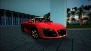 2014 Audi R8 V10 Spyder for GTA Vice City miniature 1