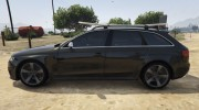 Audi RS4 Avant 2013 for GTA 5 miniature 5