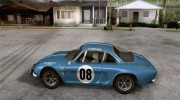 Renault Alpine A110 1600S Rally for GTA San Andreas miniature 2