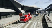 Scania R580 Fire ladder PK106 для GTA 4 миниатюра 1