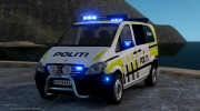 Mercedes-Benz Vito 2014 Norwegian Police for GTA 4 miniature 1