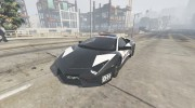 Lamborghini Reventón Hot Pursuit Police AUTOVISTA 6.0 для GTA 5 миниатюра 3