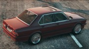 BMW M5 E28 1988 for GTA 5 miniature 3