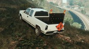 GMC Sierra 1992 (Construction Pickup with flashing orange lights) for GTA 5 miniature 2