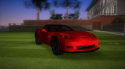 Chevrolet Corvette Grand Sport 2010 TT Black Revel for GTA Vice City miniature 2