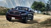 Infiniti QX56 for GTA 5 miniature 10