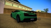 Lamborghini Gallardo LP570-4 2011 for GTA Vice City miniature 4