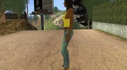Country Girl Brunette T-Shirt для GTA San Andreas миниатюра 2