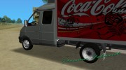 ГАЗель 33023 Coca-Cola for GTA Vice City miniature 5