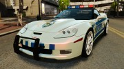 Chevrolet Corvette ZR1 Police for GTA 4 miniature 1