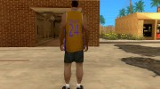 Форма БК Los Angeles Lakers for GTA San Andreas miniature 3