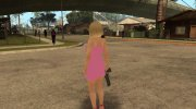 Helena in a pink dress for GTA San Andreas miniature 6