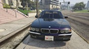 BMW L7 - 750IL E38 for GTA 5 miniature 10