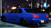 Nissan Skyline GT-R 34 Tommy Kaira for GTA 5 miniature 3