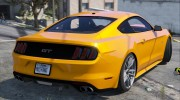 Ford Mustang GT 2015 v1.1 for GTA 5 miniature 4