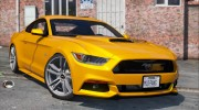 Ford Mustang GT 2015 v1.1 for GTA 5 miniature 1