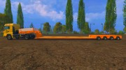 FSMT Heavy transport low loader trailer for Farming Simulator 2015 miniature 2