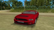 Ford Shelby GT 500 2010 для GTA Vice City миниатюра 5