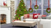 Scandinavian Christmas living for Sims 4 miniature 4