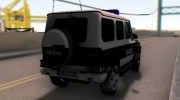 Mercedes-Benz G65 AMG BIH Police Car для GTA San Andreas миниатюра 10