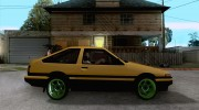 Toyota Corolla Carib AE86 for GTA San Andreas miniature 5