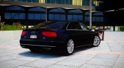 2013 Audi A8L W12 for GTA 4 miniature 3