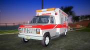 Ford Econoline 1986 Ambulance for GTA Vice City miniature 1