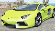 Lamborghini Aventador LP 700-4 (LB834) 2011 for BeamNG.Drive miniature 1