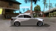 BMW 135i Coupe Stock for GTA San Andreas miniature 5
