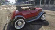 Ford T 1927 Roadster for GTA 5 miniature 3