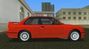 BMW M3 (E30) 1987 for GTA Vice City miniature 3