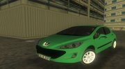 2010 Peugeot 308 for GTA Vice City miniature 1