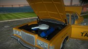 Ford Custom 500 (4-door) 1975 Taxi for GTA Vice City miniature 7