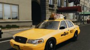 Ford Crown Victoria NYC Taxi 2012 для GTA 4 миниатюра 1