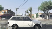 Range Rover Supercharged 2012 для GTA 5 миниатюра 6