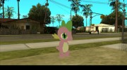 Spike (My Little Pony) для GTA San Andreas миниатюра 1