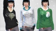 Winter Pullover for Sims 4 miniature 3
