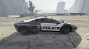 Lamborghini Reventón Hot Pursuit Police AUTOVISTA 6.0 для GTA 5 миниатюра 8