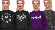 Tumblr Themed Sweatshirts - Mesh Needed for Sims 4 miniature 2