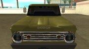 Dodge D-100 1966 for GTA San Andreas miniature 8