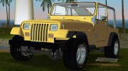 Jeep Wrangler 4.0 Fury 1986 for GTA Vice City miniature 1