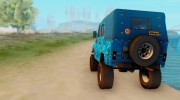 UAZ 469 Blue Star for GTA San Andreas miniature 3