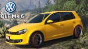 Volkswagen Golf Mk 6 for GTA 5 miniature 1